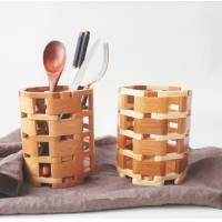 China Kitchen Spoon Fork Bamboo Display Unit / Bamboo Chopstick Holder Portable on sale