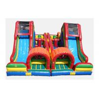 Buy cheap CE Certificate Colorful Inflatable Assault Course Rental , Inflatable Course For Amusement Park from wholesalers