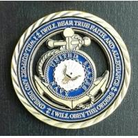 Buy cheap Blue United States navy seal challenge coin Metal Soft Enamel Die Casting from wholesalers