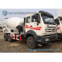 Buy cheap White Concrete Mixing Transport Truck 8 Cubic Meter North Benz 6X4 Truck from wholesalers