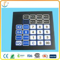 Buy cheap Adhesive PET LED Membrane Switch Keyboard With Embossed Metal Dome Push Button from wholesalers