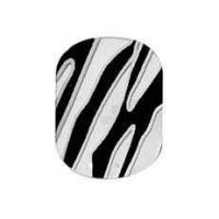 Buy cheap Fashionable PET 4C printing Portable Artificial Zebra Nail Sticker art for Girls from wholesalers