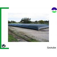 Buy cheap Black Geotextile Dewatering Tubes , Polypropylene Wastewater Sludge Dewatering Bags from wholesalers