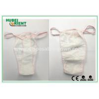 Buy cheap Soft Nonwoven Ladies Disposable T Back Panty for Salons , Tanning Centers and Massages from wholesalers
