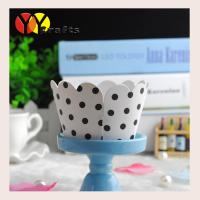 Buy cheap Colorful Cupcake Wrappers and cake wrappers black dots flower , lace cupcake wrapper from wholesalers