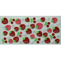 Buy cheap Red Strawberry Layered Japanese Puffy Stickers , 3D Felt Sticker from wholesalers