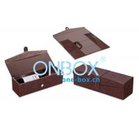 China Luxury foldable wine packaging case / personalized leather wine box for Gift Wrapping on sale