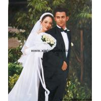 Buy cheap Spousal Portrait Oil Paintings From Photo from wholesalers