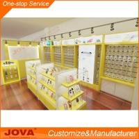 Buy cheap Modern custom retail mobile phone shop interior design and decoration with glass store mob from wholesalers