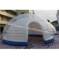 Buy cheap inflatable bubble dome tent , half clear igloo tent , nflatable air tent camping from wholesalers