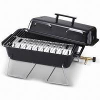 Buy cheap Portable Barbecue Gas Grill with Table Top, Chrome-wired Legs and Cooking Grid, Made in Taiwan from wholesalers