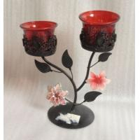 Buy cheap Antique Double Metal Flower Decorative Candle Holders With Tealight Cup product