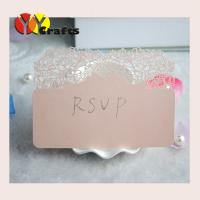 Buy cheap Rose wedding RSVP card for party / ceremony , Print Rsvp Cards from wholesalers