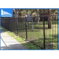 China Powder Coated Galvanized Fence Panels , Garrison Security Spear Top Fence Panels With Dupont on sale