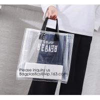 Buy cheap Manufacturer Custom Logo Transparent Clear PVC Plastic Portable Packaging Promotional Gifts Shopping Tote Bag, bagease from wholesalers