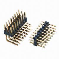 Buy cheap Triple Row Right Angle Pin Header, Available in One and Dual Insulator Row Type from wholesalers