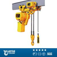 Buy cheap Yuantai 5 ton Motor Trolley Type Electric Chain Hoist with Hook block from wholesalers