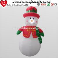 Buy cheap LED light inflatable for christmas holiday inflatable snow man for advertising from wholesalers