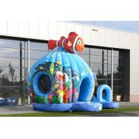 Buy cheap Seaworld Fish Moonwalk Inflatable Bouncer With Slide , 8 People Capacity from wholesalers