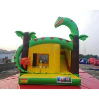 Buy cheap Dinosaur Inflatable Bounce Houses Kids Jumping Castle Combo Slide from wholesalers