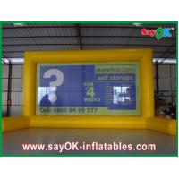 Buy cheap Outdoor Yellow Inflatable Movie Screen Advertising Billboard With Durable PVC Tarpaulin from wholesalers