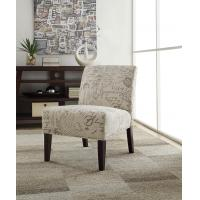 Buy cheap Hasel Microfiber Accent Chair Natural Wood Tone Legs For Lesuire Sitting from wholesalers