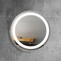 Buy cheap Manufacturers direct circular hotel bathroom wall hanging intelligent simple LED makeup mirror with demister from wholesalers