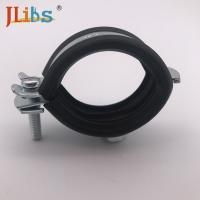 Buy cheap M8 / M8+10 Nut Steel Galvanized Pipe Clamps With EPDM Rubber from wholesalers