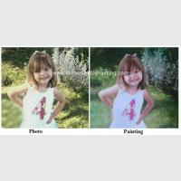 Buy cheap Children Portraits Painting Oil on Canvas Professional Photo to Painting Gift from wholesalers