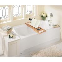 Buy cheap Bamboo Bathtub Caddy with Extending Sides and Adjustable Book Holder from wholesalers