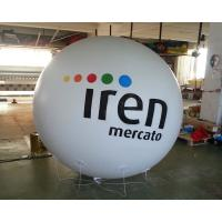 Advertising Helium Balloon White Inflatable Ball with Logo for Advertisement