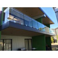 Buy cheap Exterior balcony glass balustrade with stainless steel spigots glass railing product