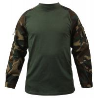 Buy cheap Digital Woodland Tactical Combat Shirt Breathable Polyester Fabric from wholesalers