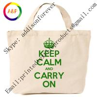 Buy cheap Custom logo print canvas tote bags for promotional gift from wholesalers