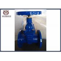 """4"""" Double Flanged Gate Valve With Brass Gland Handwheel Operated Blue Color"""