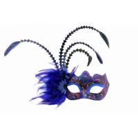 Buy cheap Costume Couples Venice Mask , Blue Party Face Mask With Macrame from wholesalers