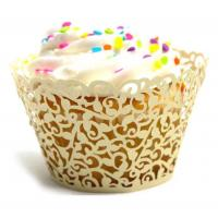 China Laser Cut Cardboard Mini Cupcake Wrappers UV Coating Surface Treatment on sale