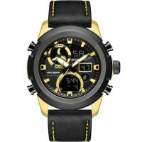 Buy cheap analog digital watch leather watch bands men 30m waterproof multifunction sport watches from wholesalers