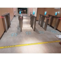 Buy cheap AI Dual WDR Camera Security Gate Facial Recognition Entry System from wholesalers