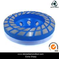 China 125mm diamond turbo grinding wheel/cup wheel grinding disc for concrete floor on sale