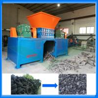 Buy cheap Waste tire shredder machine plant prices for tire recycling from wholesalers