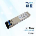 Cisco Transceiver SFP-10G-LR, Cisco 10GBASE-LR SFP+ transceiver module for SMF, 1310-nm wavelength