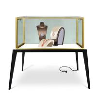 Buy cheap Luxury Transparent Jewelry Glass Display Cabinet Shopping Mall With Locks from wholesalers