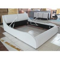 Buy cheap cheap price solid wood frame pu leather soft bed with storage function from wholesalers