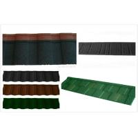 Buy cheap Aluminum Coating Stone Lightweight Metal Roof Tiles / circular outdoor roofing shingle from wholesalers