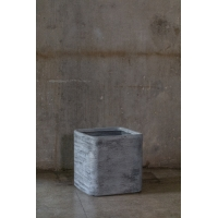 Buy cheap 5inch Grey Square Plant Pots , Grey Square Plant Pots Indoor Outdoor from wholesalers