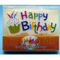 Buy cheap Colorful Hand Painted Cool Candles For Birthday Cakes No Drip Disposable from wholesalers