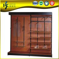 Buy cheap Wooden & Steel single-side supermarket cloth display rack , wooden display shelf for clothing shop from wholesalers