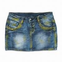 Buy cheap Women's Denim Skirt, Made of 100% Cotton from wholesalers