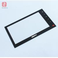 Buy cheap custom 3mm heat strengthened tempered glass for 7inch car LCD monitor touch panel glass lens from wholesalers